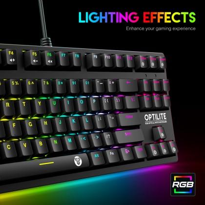 Fantech MK872 Optilite RGB Optical Swtich Keyboard BLACK SWITCH / BLUE SWITCH