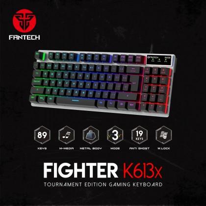 FIGHTER K613X ALUMINUM BACKLIT GAMING KEYBOARD