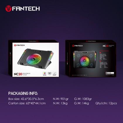 FANTECH RGB Notebook Laptop Cooler Cooling Pad NC20/NC10 NO RGB COOLER FAN