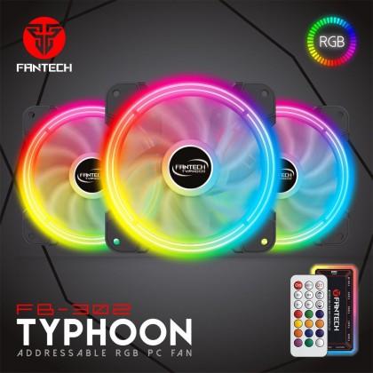 Fantech FB302 Synchronize Addressable RGB Illumination PC Case Silent Low Noise Cooling Fan