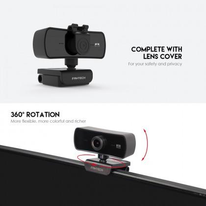 FANTECH LUMINOUS C30 QUAD HIGH DEF 1440P 2K QUAD HD USB Web Camera Webcam with Built-in Microphone for PC/MAC/LAPTOP